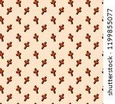 halloween seamless pattern with ... | Shutterstock .eps vector #1199855077