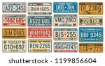 car numbers of vehicle... | Shutterstock .eps vector #1199856604