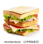 sandwich with bacon and... | Shutterstock . vector #119986825