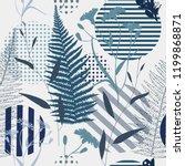 botanical abstract seamless...   Shutterstock .eps vector #1199868871