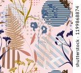 botanical abstract seamless...   Shutterstock .eps vector #1199868874
