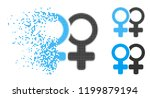 lesbi pair icon in dissipating  ... | Shutterstock .eps vector #1199879194