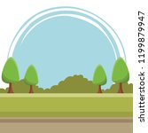 landscape sunny day scenery | Shutterstock .eps vector #1199879947