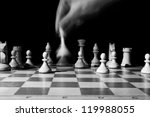 course of the chess queen with... | Shutterstock . vector #119988055