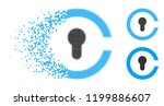keyhole icon in fractured ... | Shutterstock .eps vector #1199886607