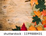 vivid autumn maple leaves on... | Shutterstock . vector #1199888431