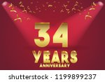 34th anniversary numbers.... | Shutterstock .eps vector #1199899237