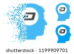 dash think icon in dissipating  ... | Shutterstock .eps vector #1199909701