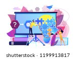 team working on analyzing the... | Shutterstock .eps vector #1199913817