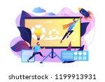 development team member and... | Shutterstock .eps vector #1199913931