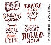 pun halloween illustration with ... | Shutterstock .eps vector #1199915827