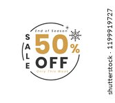 christmas special sale 50  off... | Shutterstock .eps vector #1199919727