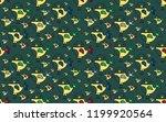 cute bird seamless pattern on... | Shutterstock .eps vector #1199920564