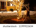 cute christmas wooden deer in... | Shutterstock . vector #1199922634