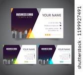 modern corporate business card...   Shutterstock .eps vector #1199927491