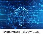 bulb future technology ... | Shutterstock . vector #1199940631