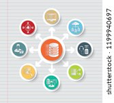 database and data analysis icon ... | Shutterstock .eps vector #1199940697