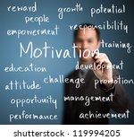 business man writing ...   Shutterstock . vector #119994205
