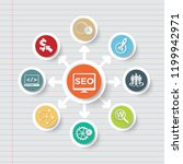 search engine optimisation icon ... | Shutterstock .eps vector #1199942971