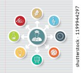 education and science icon info ... | Shutterstock .eps vector #1199944297