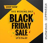 beautiful black friday sale... | Shutterstock .eps vector #1199945314