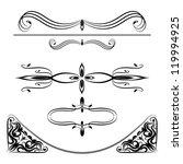 calligraphic elements set | Shutterstock .eps vector #119994925