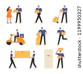 a character to carry and... | Shutterstock .eps vector #1199950327