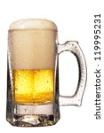 mug fresh beer with cap of foam ... | Shutterstock . vector #119995231