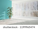white empty room with winter... | Shutterstock . vector #1199965474