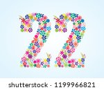 vector colorful floral 22... | Shutterstock .eps vector #1199966821