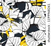 tropical  modern stripes motif. ...   Shutterstock .eps vector #1199968261