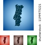 map of portugal | Shutterstock .eps vector #1199975221