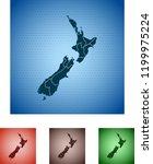 map of new zealand   Shutterstock .eps vector #1199975224