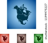 map of north america | Shutterstock .eps vector #1199975227