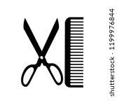 black scissor and comb bursh...   Shutterstock .eps vector #1199976844
