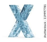 Water Alphabet isolated on white background (Letter X) - stock photo