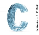 Water Alphabet isolated on white background (Letter C) - stock photo