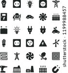 solid black flat icon set... | Shutterstock .eps vector #1199988457