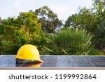 solar panel energy concept on... | Shutterstock . vector #1199992864
