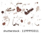 hand drawn set of sepia colored ...   Shutterstock .eps vector #1199993311