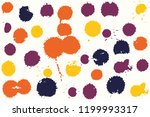 hand drawn set of colorful ink...   Shutterstock .eps vector #1199993317