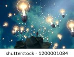 2d illustration. imaginary... | Shutterstock . vector #1200001084