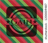 gain christmas badge background. | Shutterstock .eps vector #1200009487