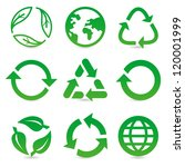 vector collection with recycle...   Shutterstock .eps vector #120001999