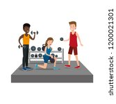 group of athletes practicing... | Shutterstock .eps vector #1200021301