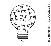 bulb light idea with puzzle... | Shutterstock .eps vector #1200022264