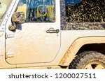 Small photo of Dirty white truck that needs to be cleaned as soon as possibl. Concept of off road adventures