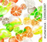 watercolor painting  vintage... | Shutterstock . vector #1200028387