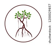 mangrove tree logo vector with... | Shutterstock .eps vector #1200029857