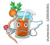 cupid character healthy carrot...   Shutterstock .eps vector #1200030301